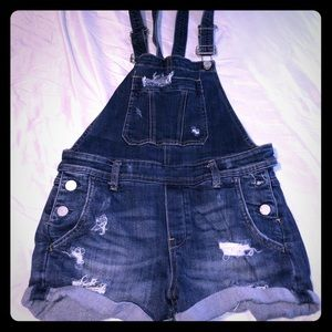 Blank NYC short overalls